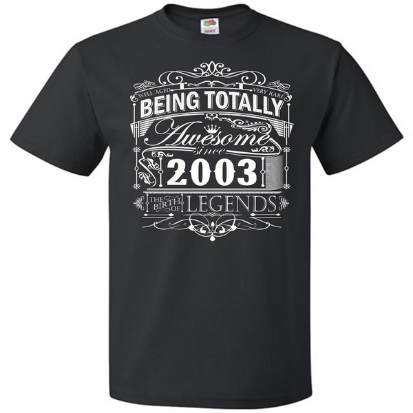 Awesome Since 2003 14th Birthday T Shirt 14 Years Old