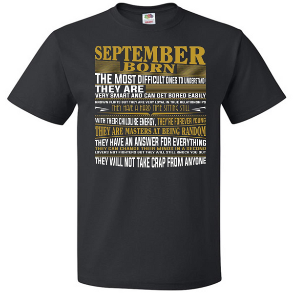 NewHot Born in September T Shirts for Mens & Womens