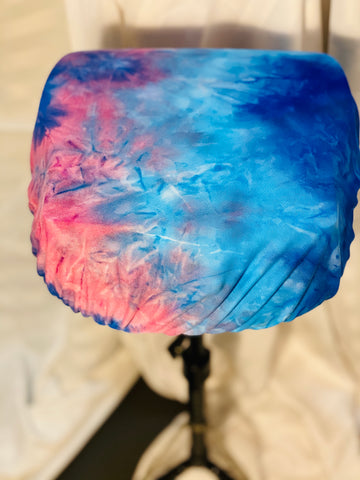 Blue and pink tie dye writer cover