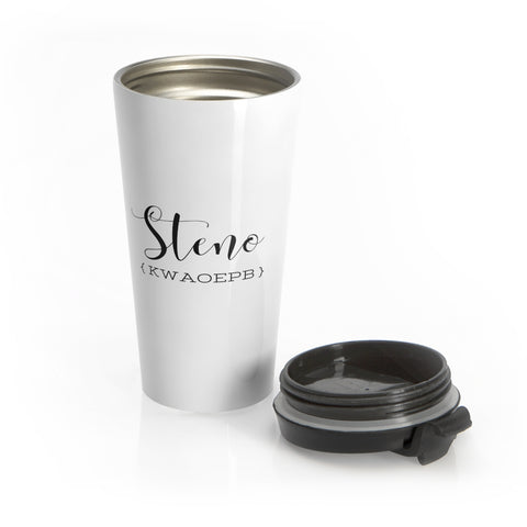 Steno Queen - Stainless Steel Travel Mug