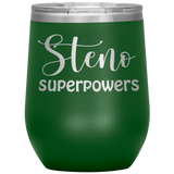 Steno Superpowers wine cup