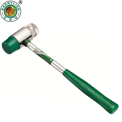 BERRYLION 25mm Rubber Hammer Auction Installation Hammer Mallet With Steel Handle Hand Tools