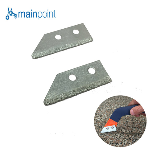 Mainpoint 2Pc Alloy Steel Removal of Old Grout Hand Tools Saw Blades
