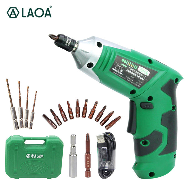 3.6V Portable Electric Screwdriver With Chargeable Battery with 11 bits