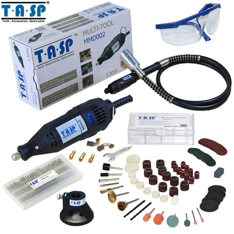 220V 130W Rotary Tool Set Engraver with Flexible Shaft and 140 Accessories Power Tools