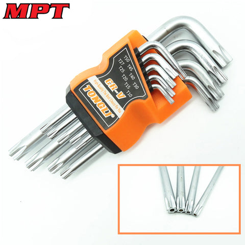 9Pcs Box End Wrench Tool Set Anti Tamper Proof Torx Key