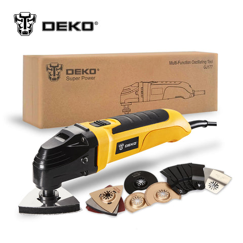 220V Variable Speed Electric Multifunction Oscillating Tool Kit Electric Trimmer Saw w/ Accessories