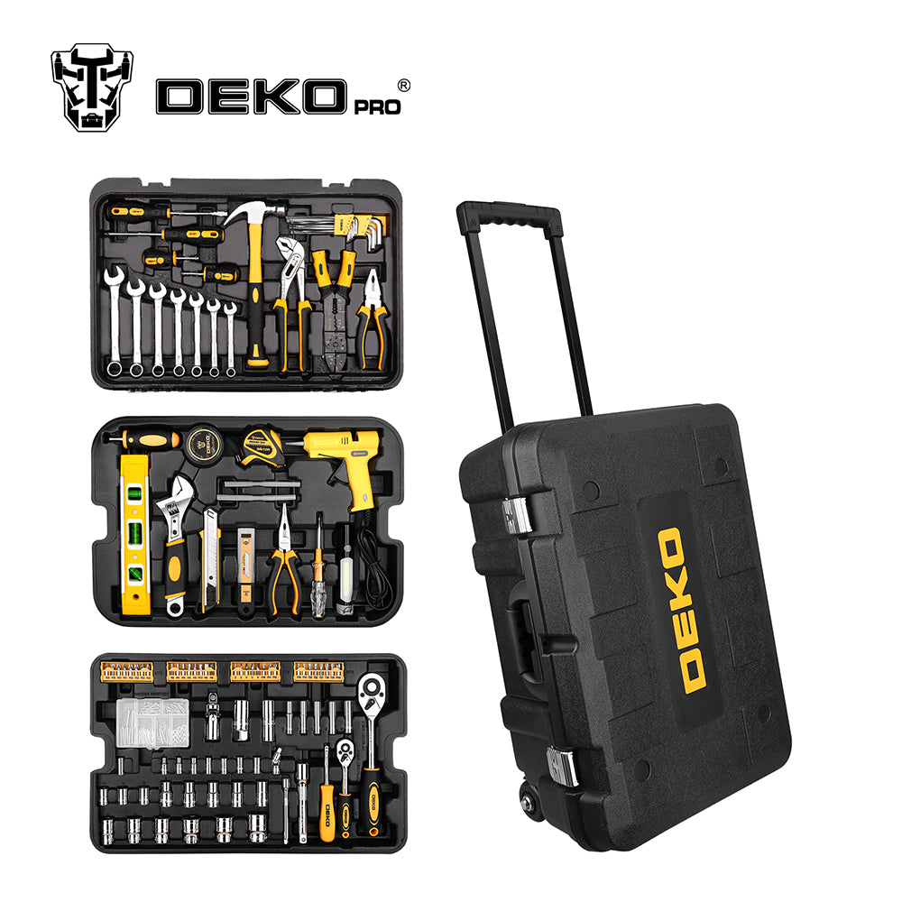 255 Pcs Tool Set with Rolling Tool Box Metric Socket