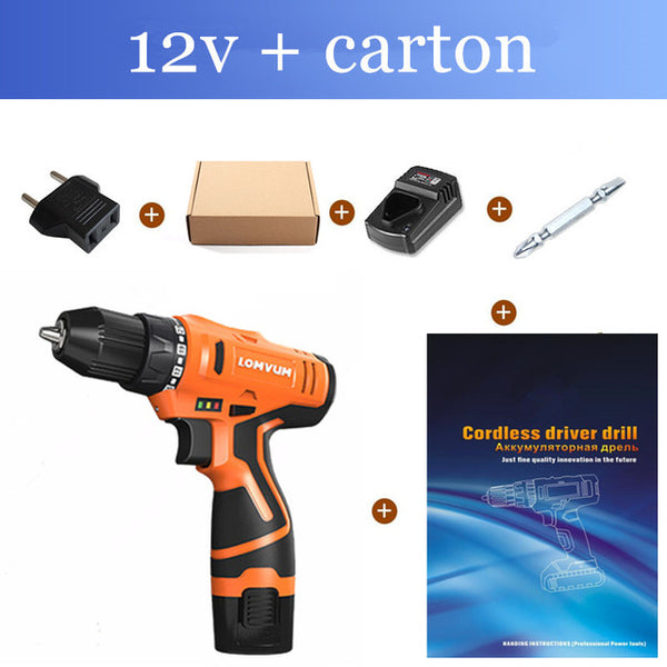 Longyun Rechargeable Lithium Battery cordless Electric Drill