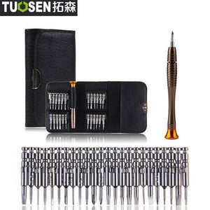 TUOSEN 25 in 1 Torx Precision Screwdriver Bits Repair Tool Set