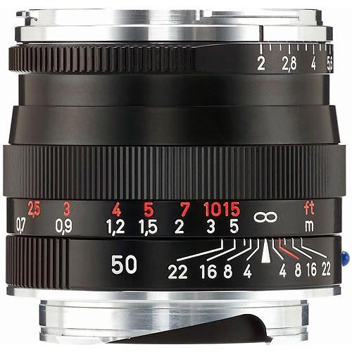 Zeiss 50mm f/2 Planar T* ZM Lens (Black)