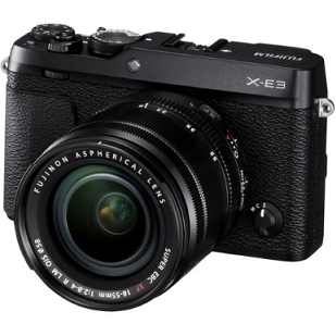 FUJIFILM X-E3 Digital Camera with 18-55mm Lens Black