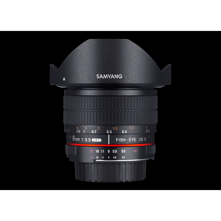 Samyang 8mm F3.5 UMC Fish-Eye CS II Lens