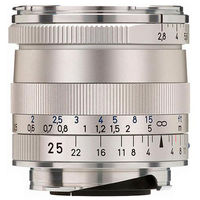 Zeiss 25mm f/2.8 Biogon T* ZM Lens (Silver)