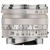 Zeiss 28mm f/2.8 Biogon T* ZM Lens (Silver)