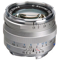 Zeiss 50mm f/1.5 C Sonnar T* ZM Lens (Silver)