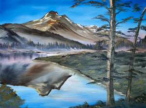 "Fine Art - Oil Painting ""Mount Jefferson"" by Sonny Sinay - Your American Flag Store"