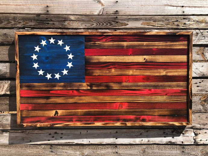 Rustic Betsy Ross Flag - Your American Flag Store