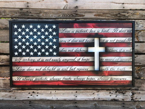Christian Cross Flag w/ Back-Lit Cross - Your American Flag Store