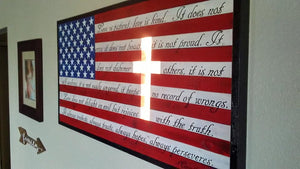 Christian Cross Flag w/ Backlight