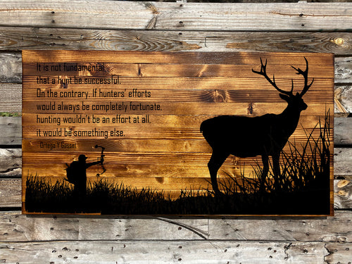 The Bow Hunter Rustic Sign - Your American Flag Store