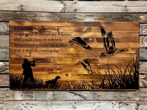 The Duck Hunter Rustic Sign - Your American Flag Store