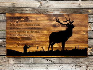 The Hunter Rustic Sign - Your American Flag Store