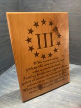 III%'er Sons of Minutemen Plaque - Your American Flag Store