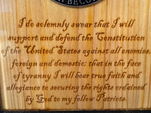 III %'er Oath Keepers Plaque - Your American Flag Store
