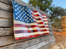 "Hand Carved ""ULTRA"" Waving Flag"
