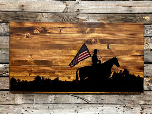 Patriotic Youth Rustic Sign - Your American Flag Store
