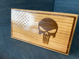 Punisher Desk Flag Plaque - Your American Flag Store
