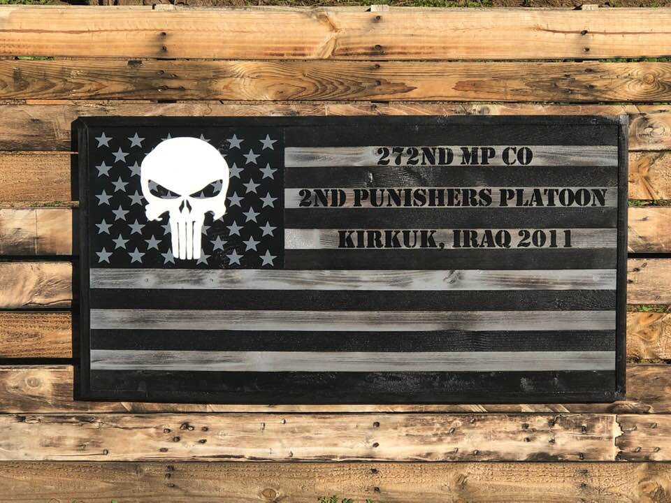 Silver & Black PUNISHER - Your American Flag Store