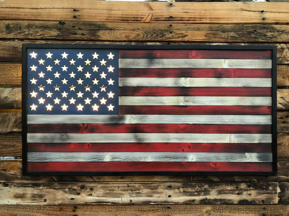 Shining Stars w Back Lit Stars - Your American Flag Store