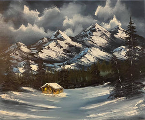 "Fine Art - Oil Painting ""Snow Cap Cabin"" by Sonny Sinay - Your American Flag Store"