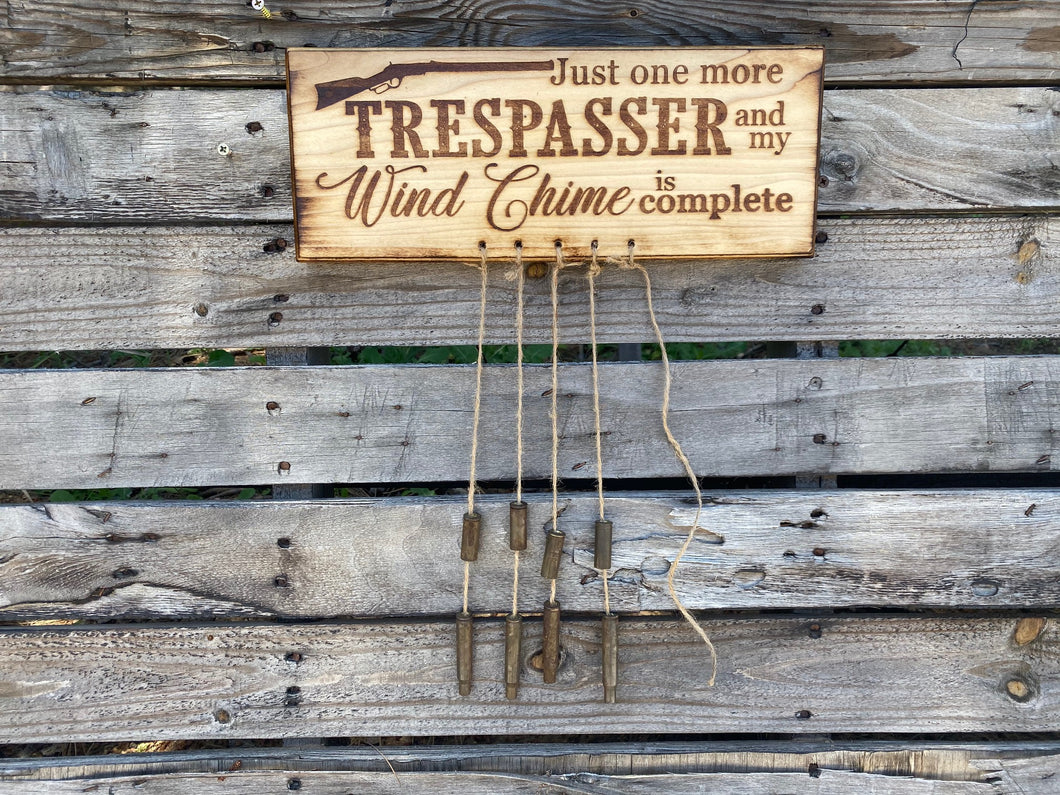Trespasser Wind Chime - Your American Flag Store