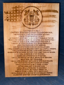 US COAST GAURD Plaque - Your American Flag Store