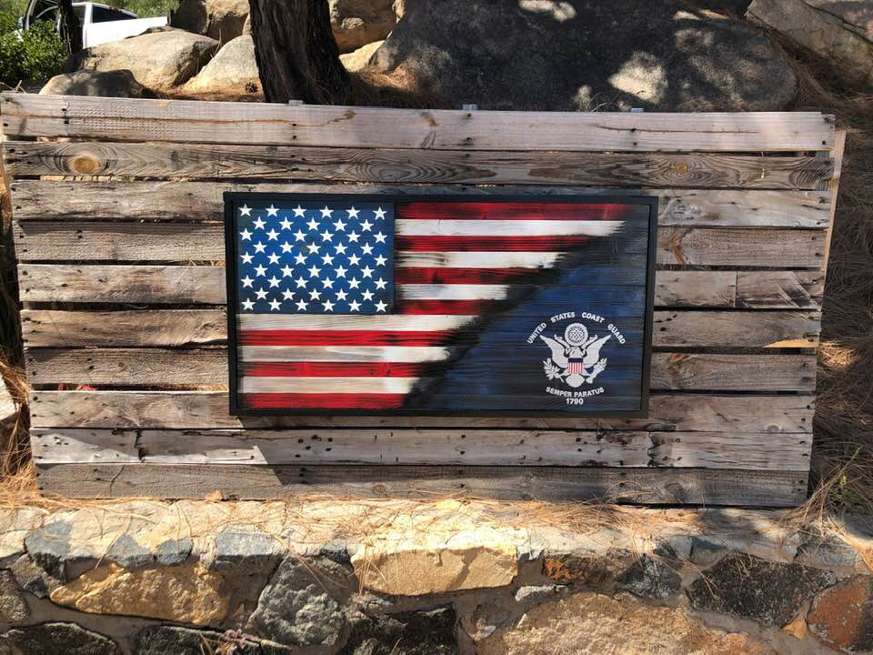 70/30 Armed Forces Emblem w/ Coin Rack – Your American Flag