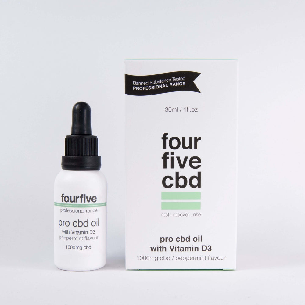 FourFive Pro CBD Oil + Vitamin D3 Oil FourFive