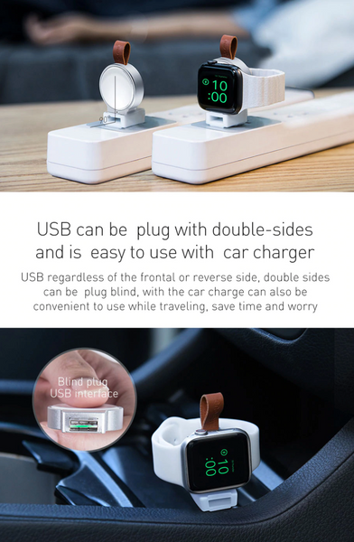 Portable Qi Wireless USB Apple Watch Charger
