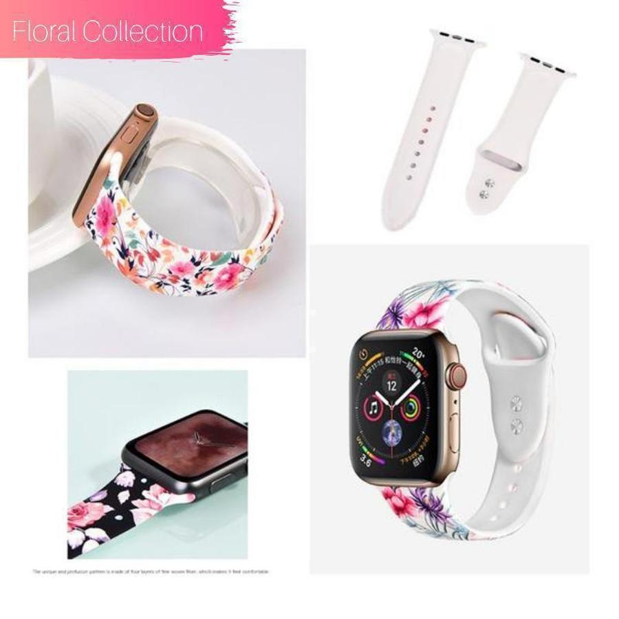 Apple Watch Silicone Band | New Floral Collection