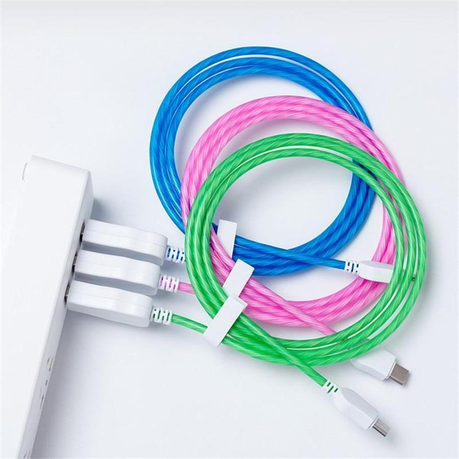 LED Glowing USB Charging Cable for iPhone & Samsung