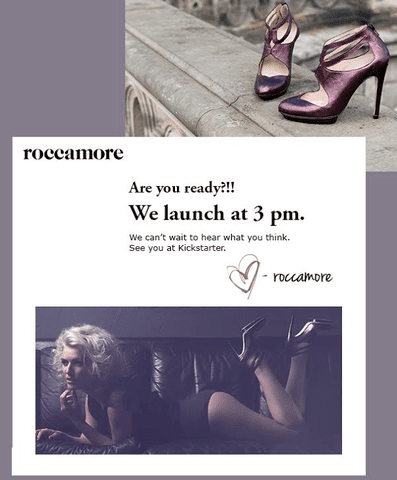 75 pair of roccamore shoes to early bird prices from 3pm