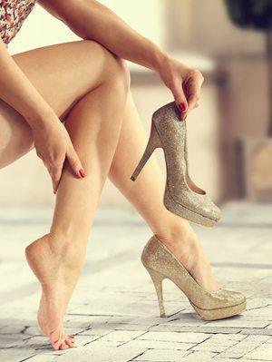 Three minute workout to prevent pain from wearing high-heels