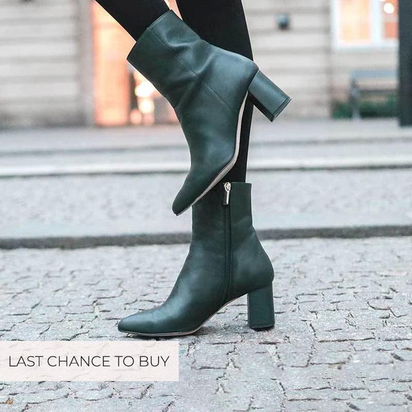 viktoria-dark-green-leather-block-heel-boot-roccamore