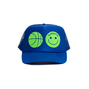 Sunshine Trucker Hat Blue