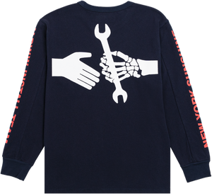 NYS U.P.W.W. Long Sleeve T-Shirt Navy