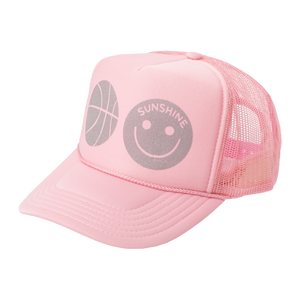Sunshine Trucker Hat Pink