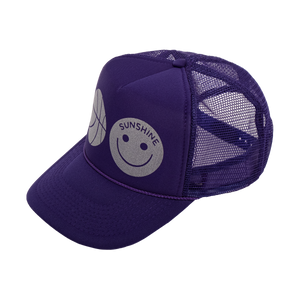 Sunshine Trucker Hat Purple