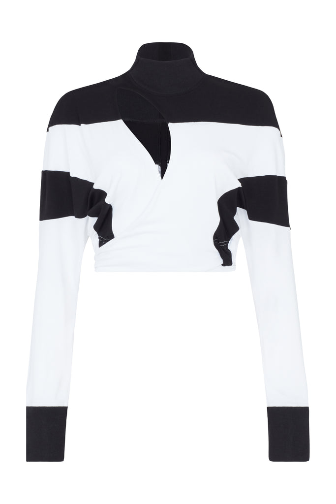 The 'De Jour De Nuit' Wrap - White & Black